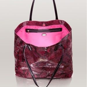 333b468adeff New GUESS Crocodile & Python Embossed Tote Handbag